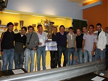 Premiazioni campionato calcio a 5 - 2008/2009 - La squadra vincitrice del FRONTERINO