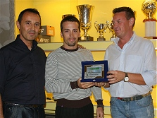 Premiazioni campionato calcio a 5 - 2008/2009 - Capocannoniere MANUEL RAINIGER (Casa Pi)