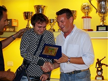 Premiazioni campionato calcio a 5 - 2008/2009 - Miglior giocatore DAVIDE PEZZOTTI (Fronterino)