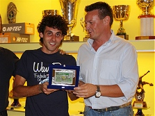 Premiazioni campionato calcio a 5 - 2008/2009 - Miglior portiere ANDREA CARLI (Immobiliare Capra)